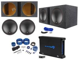 "MTX 5515-22 15"" 1600w Car Subwoofers+Vented Sub Box+Mono Am"
