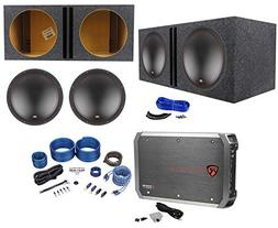 "MTX 5515-44 15"" 1600w Car Subwoofers+Vented Sub Box+Mono Am"