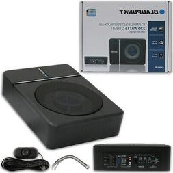 "BLAUPUNKT 8"" UNDER SEAT SLIM POWERED CAR SUBWOOFER ENCLOSED"