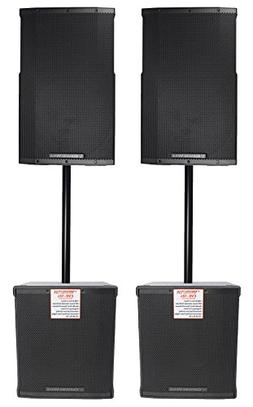 "Cerwin Vega CVE-12 1000 Watt 12"" Powered DJ PA Speakers+ 18"