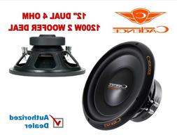 "Cadence CM12D4 Steel Basket 12"" Woofer Dual 4 ohm 300 Watts"