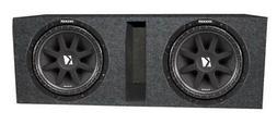 "Kicker 12"" Comp 43C124 600 Watt Subwoofers  + Vented Dual Su"