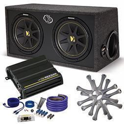 Kicker Comp Dual 12 package with Kicker CX300.1 300 watt mon