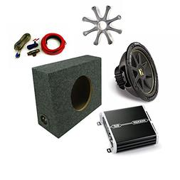 """Kicker 12"""" Comp Sub DXA2501 Amp with Grill,Amp Kit, Truck En"""