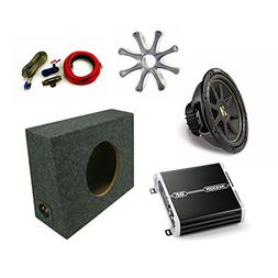 "KICKER 10"" Comp Sub DXA2501 Amp with Grill,Amp Kit,Truck Enc"