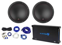 "MTX 7512-22 12"" 3000w Competition Car Subwoofers Subs+Mono"