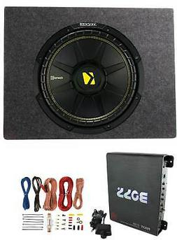 Kicker Comps 500W Subwoofer + Q Power Truck Enclosure + Boss