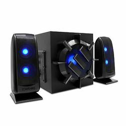 Computer Speaker Sound System - 2.1 Subwoofer with 80W Peak,