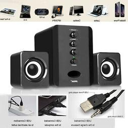 Mini Computer Speakers 2.1 USB Desktop PC Laptop Audio Playe
