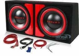"Crunch CR-212A 1000w RMS 12"" Powered Loaded Subwoofers+Sub B"