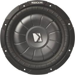 "Kicker CVT124 12"" Single 4 ohm Shallow-Mount CompVT Series C"