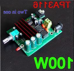 dc 12v-24v TPA3116D2 100W mono digital amplifier board 100W
