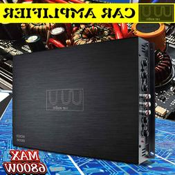 DC 12V 6800W 4Channel Car Amplifier Audio Stereo <font><b>Ba