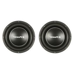 """Q Power Deluxe 12"""" Shallow Mount 1200W Flat Car Subwoofer, 2"""