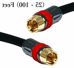 Digital RCA 75-Ohm Coaxial RG6 Audio Cable for S/PDIF Surrou