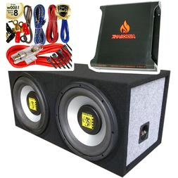 "Audiotek Dual 10"" 1200 Watt Power Dual Seal w/ Subwoofer + 1"
