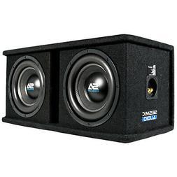 Dual 10 Inch 1600 Watt Car Audio Subwoofer Box Enclosure wit