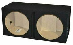 """Dual 12"""" Ported Subwoofer Enclosure Vented Sub Box 12 Inch,"""