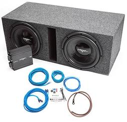 """Skar Audio Dual 12"""" Complete Loaded Subwoofer Bass Package w"""