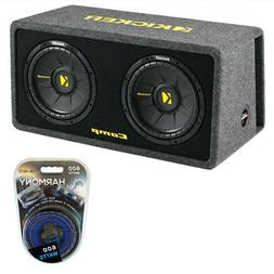 Kicker 10 Inch 1200 Watt Dual Loaded Car Audio Subwoofer Enc