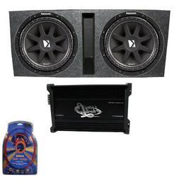 "Kicker 15"" 600W Dual Loaded Subwoofer Box w/ 2000W 4-Ch. Amp"