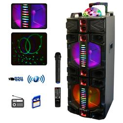 BeFree Sound Dual 12 Inch Subwoofer Bluetooth Portable Party