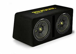 Kicker 44DCWC122 Dual 12-Inch 1200 Watt 2 Ohm Vented Loaded