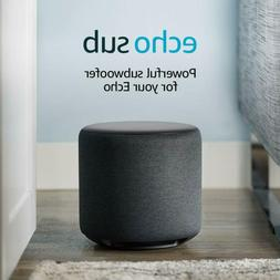 Echo Sub - Powerful subwoofer for your Echo - requires compa