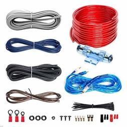 Gauge Cable Car Audio Kit Amplifier Subwoofer Sub Wiring Aut