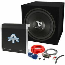 Hifonics HFX12D4 12 inch 800 Watt Car Sub Subwoofer + Amp Co