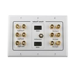 Home Theater 6.1 Sound 2 HDMI Port RCA Subwoofer Jack Banana