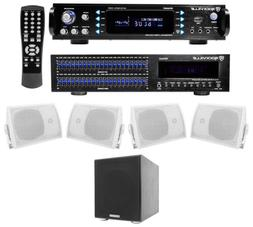 Rockville Home Theater Bluetooth Receiver+EQ+  Speakers + 10
