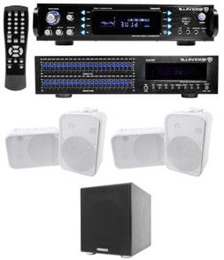 """Rockville Home Theater Bluetooth Receiver+EQ+ 6.5"""" Speakers+"""