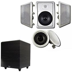 "Acoustic Audio HT-85 In-Wall/Ceiling 5.1 Home Theater 8"" Spe"