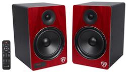 "Rockville HTS8C Pair 8"" 1000W Powered Home Theater Speakers"