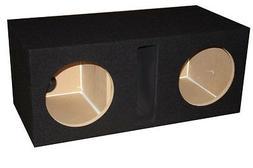 "15"" inch BLACK Dual Subwoofer Speaker Box Enclosure Vented L"