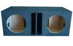 """10"""" inch DUAL SUBWOOFER SUB BOX ENCLOSURE Ported Vented Made"""