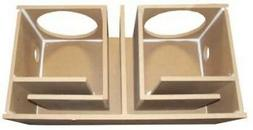 """10"""" inch Dual Subwoofer Sub Box Enclosure Ported Vented 1"""" F"""