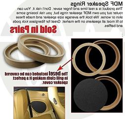 "8"" INCH MDF WOOD SPEAKER SUBWOOFER MOUNTING SPACER RINGS RE"