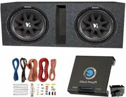Kicker 10C124 600W 12-Inch Subwoofers With Ported Box Enclos