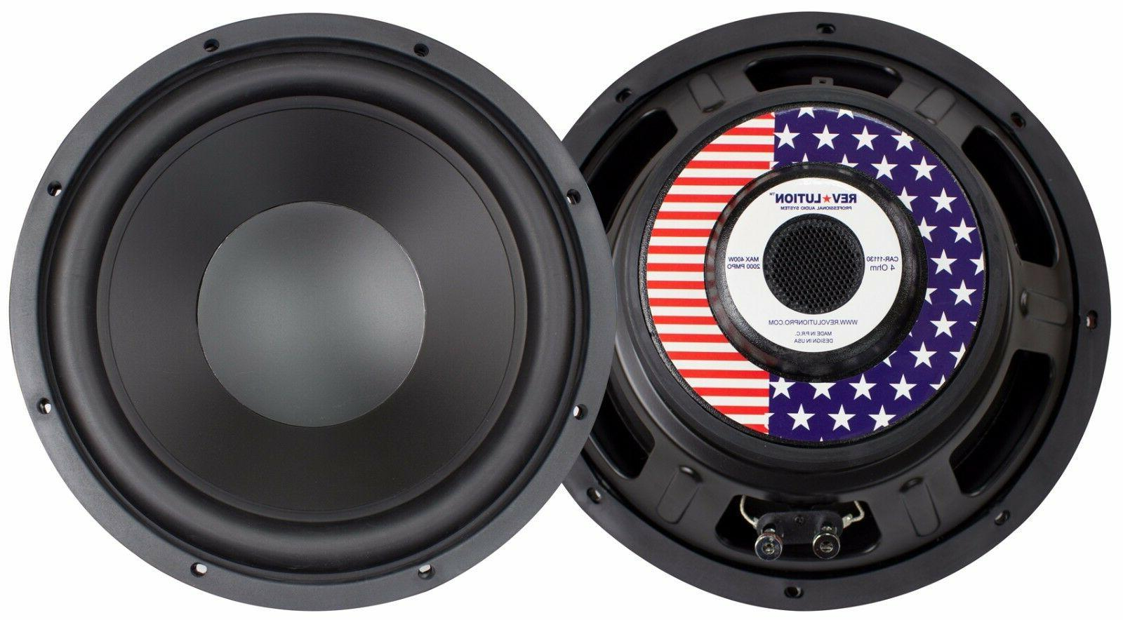12 inch 4 ohm car audio subwoofers