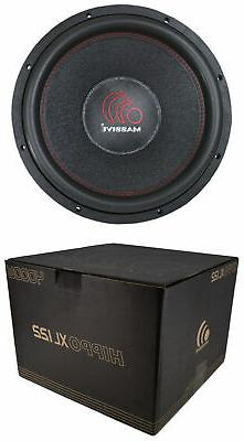 12 inch car audio subwoofer dual voice
