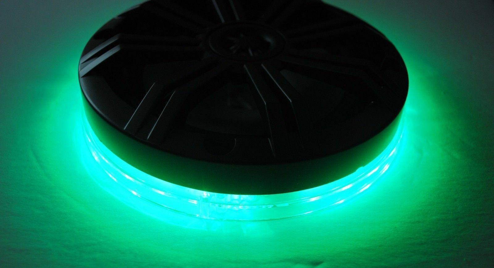 10 Inch Marine Color RGB LED Light Subwoofer Speaker Ring fi