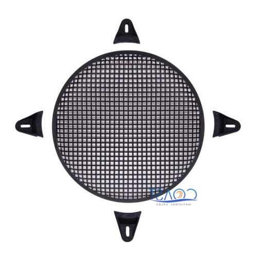 """12"""" SubWoofer Metal Mesh Cover Waffle Speaker Grill Protect"""