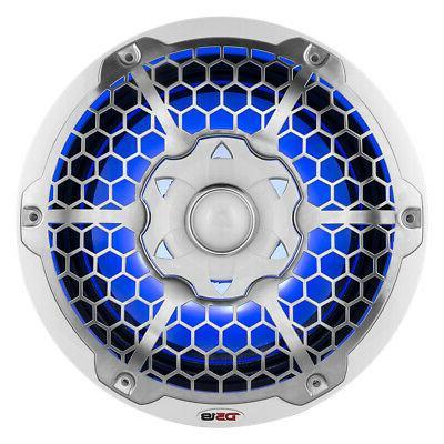 "12"" White Marine Subwoofer Waterproof RGB 700W 4 Ohm DS18"
