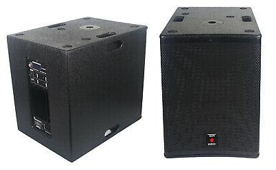 15 inch powered 4500w wood pa subwoofer