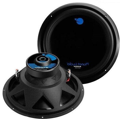 """15"""" Subwoofer Car Audio Speaker Planet Audio 1800W Dual 4Ohm"""