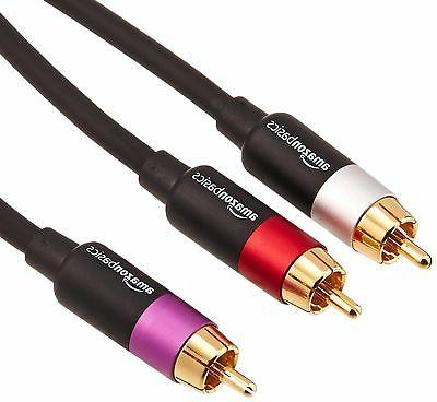 AmazonBasics 1-Male to 2-Male RCA Audio Cable - 15 Feet