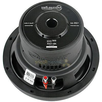 "2 Bass 10"" Subwoofers Dual 4 Ohm 900 Watts Audio XD Series"