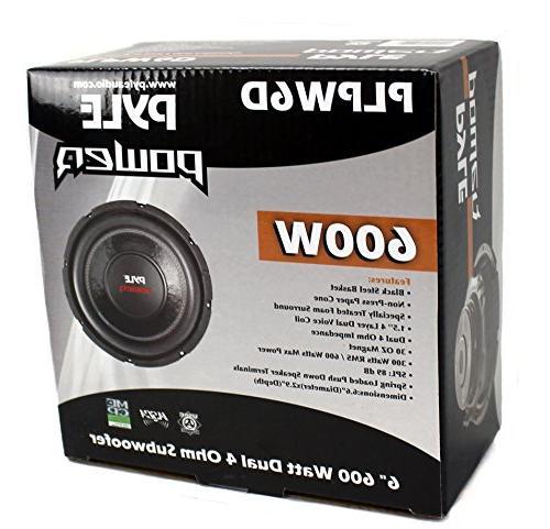 """2) PYLE PLPW6D 6"""" 1200W Voice 4-Ohm Subwoofers"""